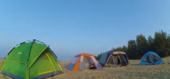 Camping on Sonadia Island