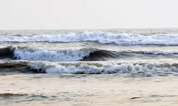 The wave of inani sea beach