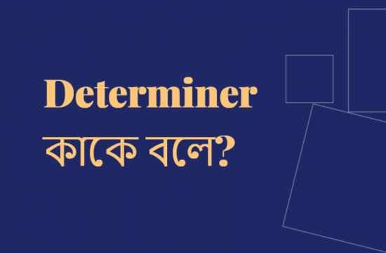 Determiner কাকে বলে? Determiner কত প্রকার ও কি কি?