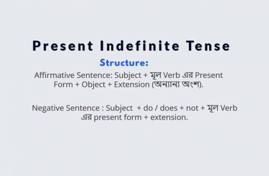 Present Indefinite Tense কাকে বলে