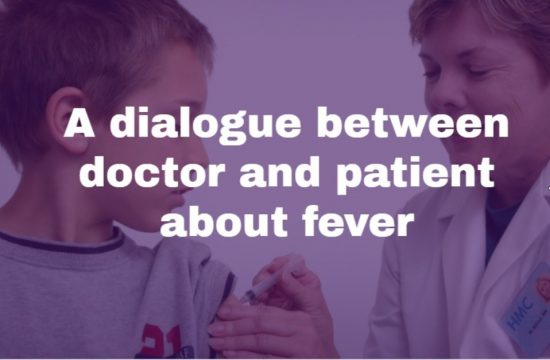 A dialogue between doctor and patient about fever